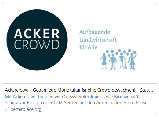 Ackercrowd bei betterplace.org